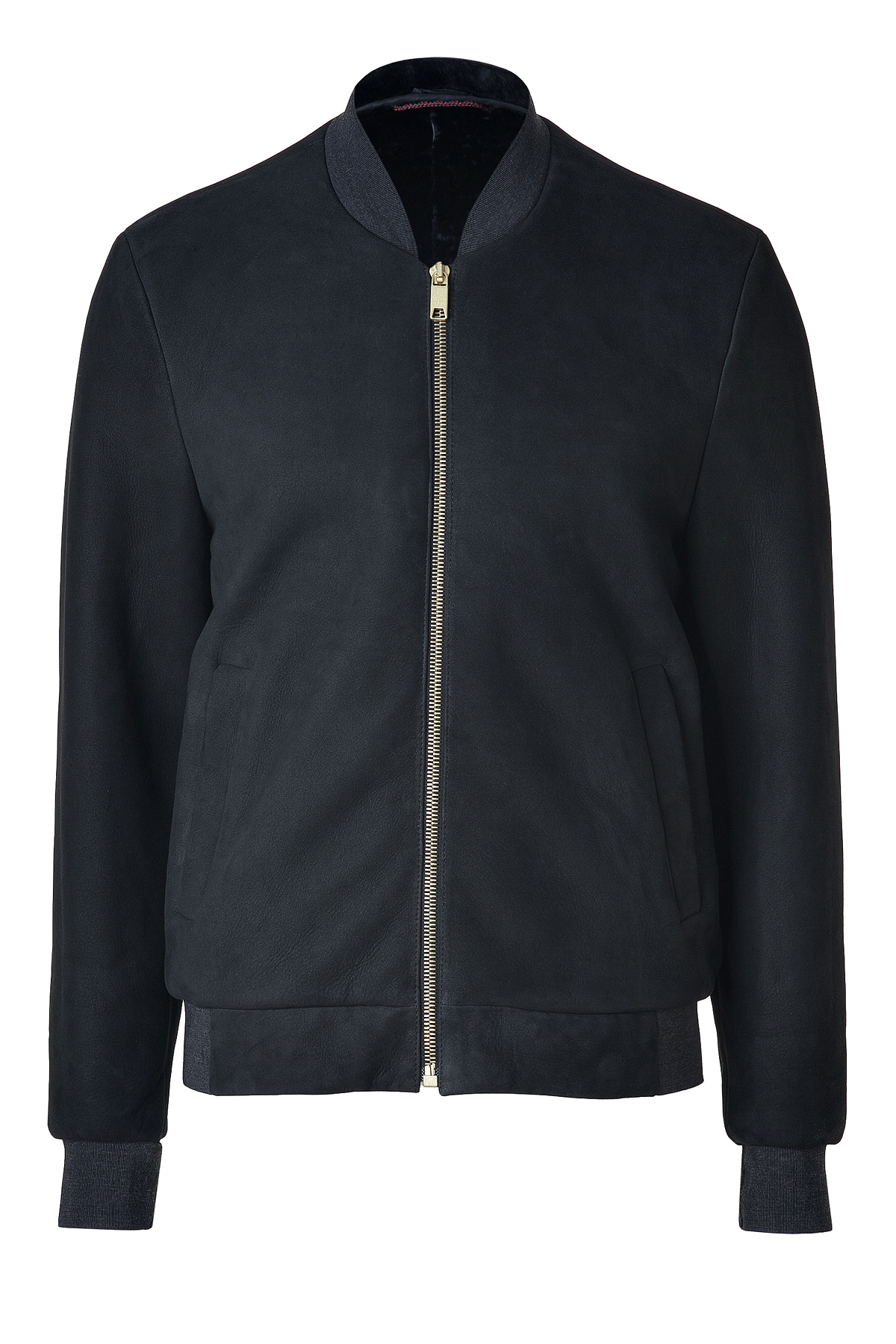 Marc Jacobs Black Shearlinglined Leather Baseball Jacket In Black For Men | Lyst