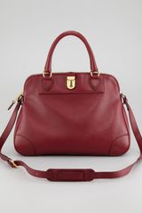 Marc Jacobs Whitney Dome Satchel Bordeaux - Lyst