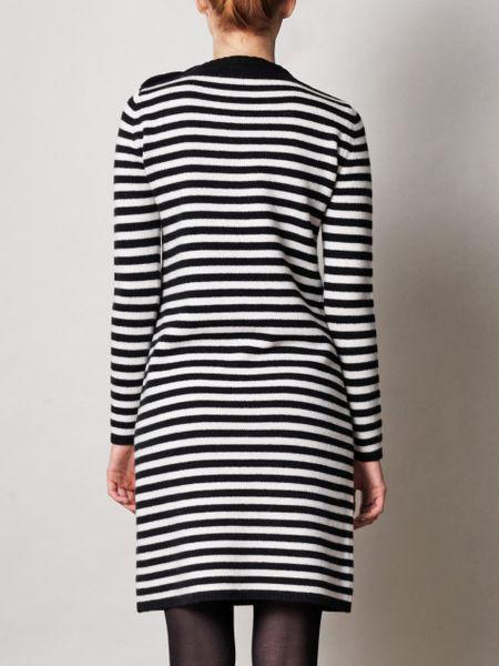 Max Mara Soffio Striped Dress In Black Lyst