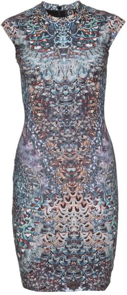 Mcq By Alexander Mcqueen Digitally Printed Dress in Multicolor