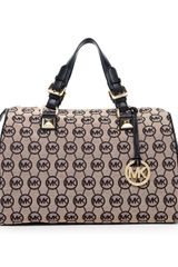 Michael by Michael Kors Large Grayson Monogram Satchel  - Lyst