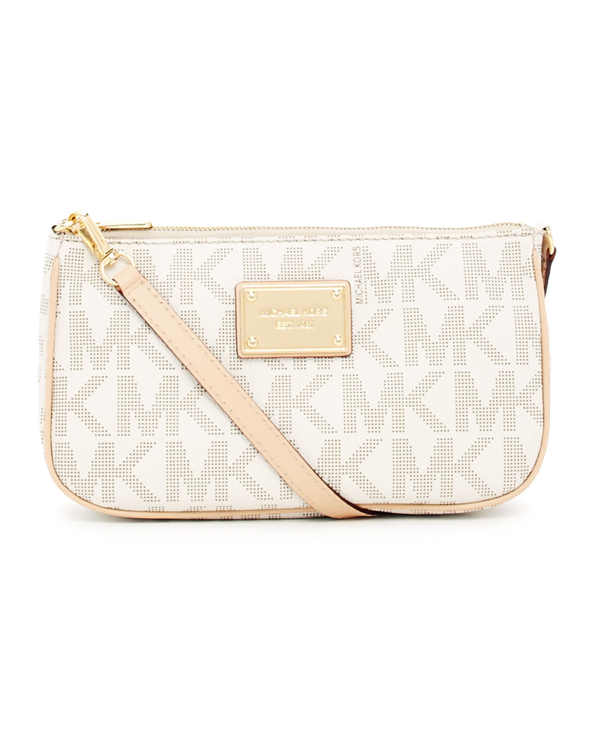 e394f00854a7 MICHAEL Michael Kors Jet Set Large Pouchette in White - Lyst