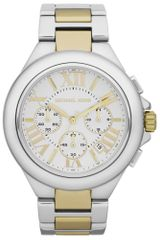 Michael Kors Womens Chronograph Camille Two Tone Stainless Steel Bracelet 43mm - Lyst