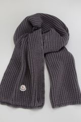 Moncler Washed Cable Knit Scarf - Lyst