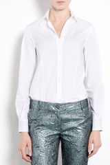 Paul Smith Black Label Classic White Shirt with Swirl Cuff
