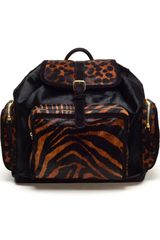 Pierre Hardy Calfhair Leopard Printed Backpack