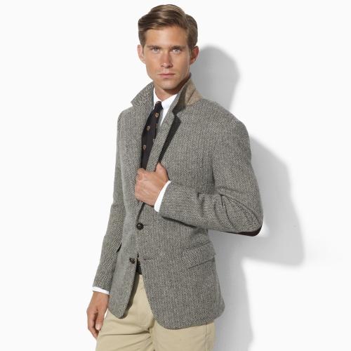 Polo ralph lauren Herringbone Sport Coat in Gray for Men | Lyst