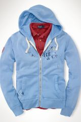 Polo Ralph Lauren Fleece Anchor Printed Hoodie - Lyst