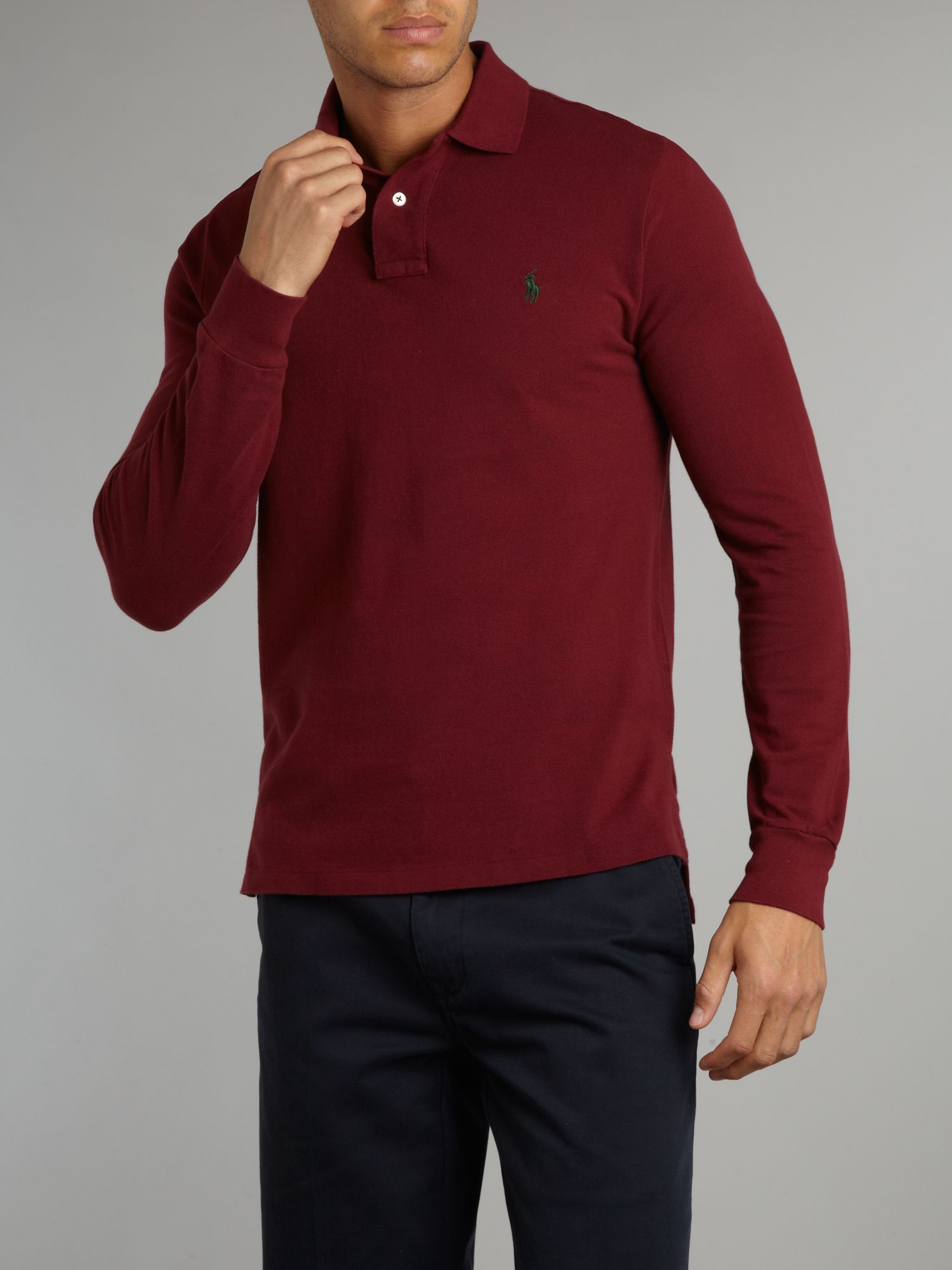 Lyst polo ralph lauren long sleeved classic custom for Custom t shirts long island ny