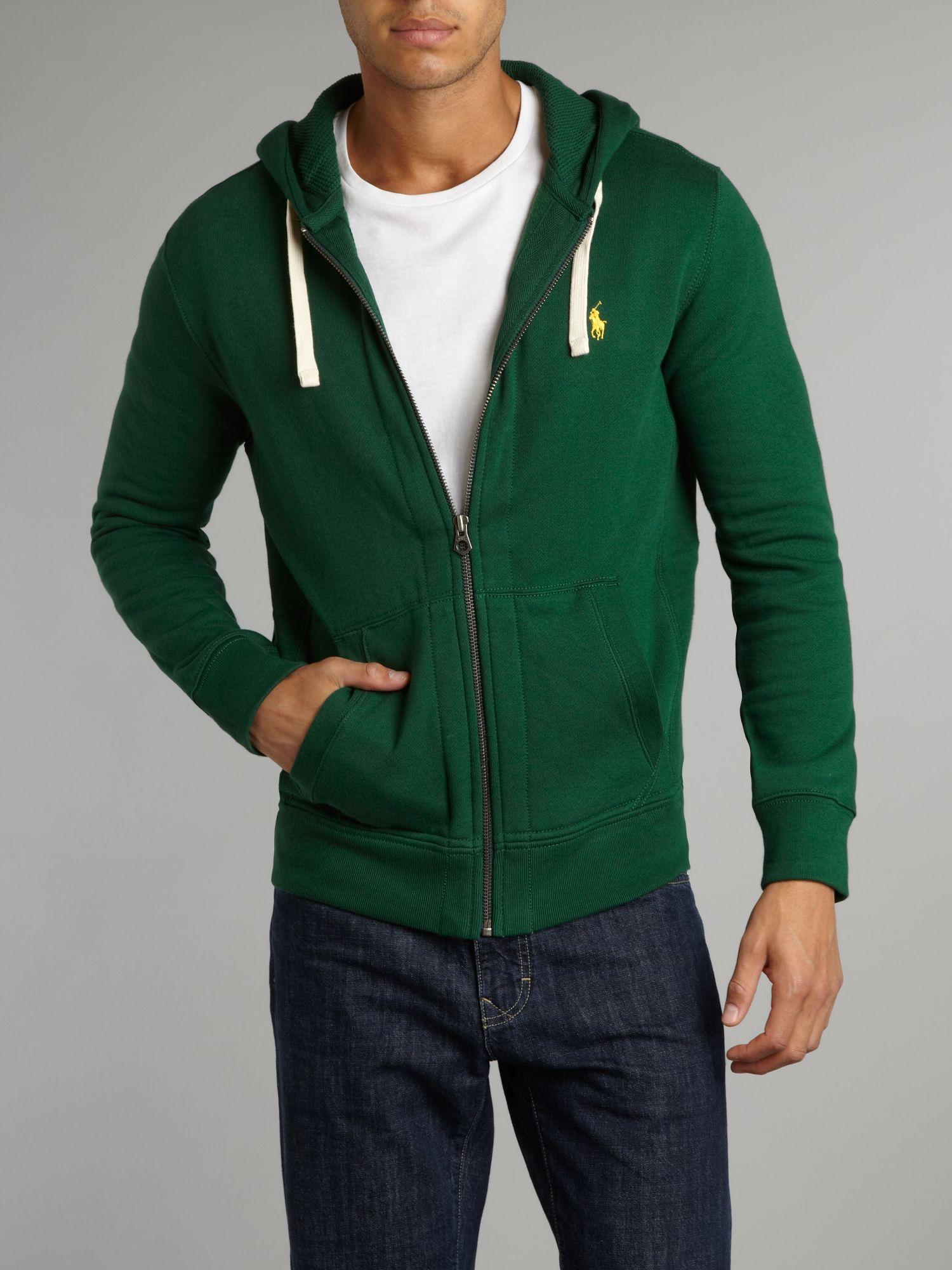 Ralph Lauren Polo Green Zip Hooded Sweatshirt