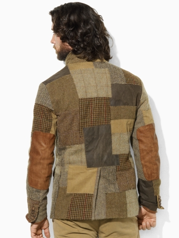 Polo Ralph Lauren Tweed Patchwork Sport Coat In Brown For