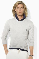 Polo Ralph Lauren Cotton Cashmere Crewneck - Lyst
