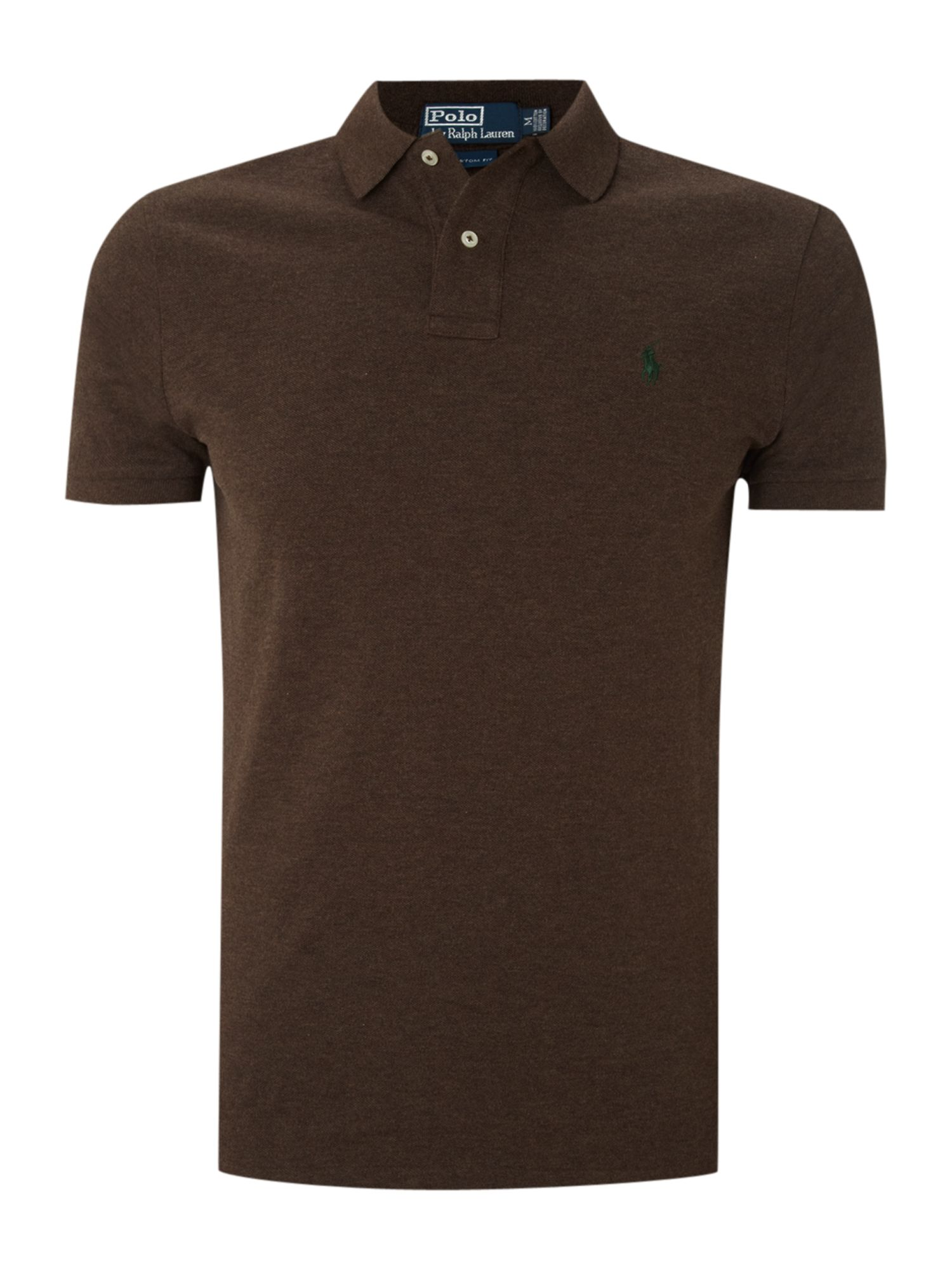 Polo Ralph Lauren Classic Custom Fitted Marl Polo Shirt In