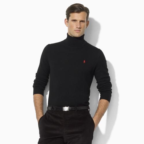 Lyst Polo Ralph Lauren Merino Wool Turtleneck In Black