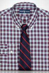 Polo Ralph Lauren Customfit Red Plaid Shirt  - Lyst