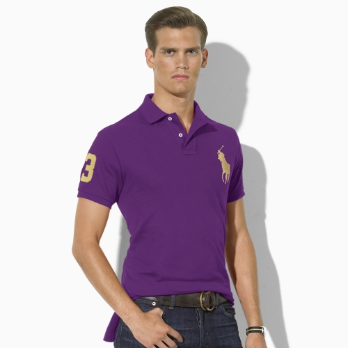 polo ralph lauren customfit big pony polo in purple for. Black Bedroom Furniture Sets. Home Design Ideas