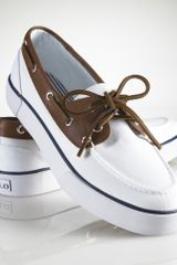 Polo Ralph Lauren Rylander Canvas Boat Shoe - Lyst