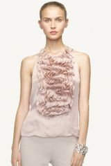 Ralph Lauren Black Label Firana Chiffon Top - Lyst