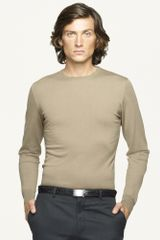 Ralph Lauren Black Label Merino Crewneck Sweater - Lyst