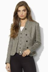 Ralph Lauren Blue Label Silk Herringbone Jacket - Lyst