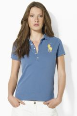 Ralph Lauren Blue Label Big Pony Skinny Mesh Polo - Lyst
