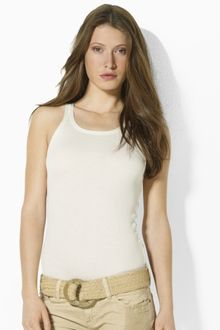 Ralph Lauren Blue Label Melissa Pima Cotton Tank - Lyst