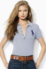 Ralph Lauren Blue Label Big Pony Skinny Polo - Lyst
