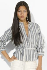 Ralph Lauren Blue Label Alita Striped Tunic - Lyst