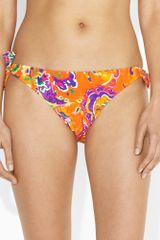 Ralph Lauren Blue Label Paisley Sidetie Hipster in Orange - Lyst