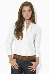 Ralph Lauren Blue Label Melanie Stretch Poplin Shirt - Lyst