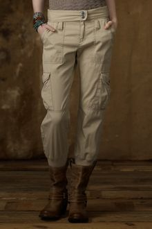 Ralph Lauren Cotton Cropped Cargo Pant - Lyst
