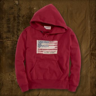 Ralph Lauren Distressed Flag Hoodie - Lyst