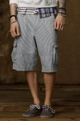 Ralph Lauren Striped Twill Cargo Short - Lyst