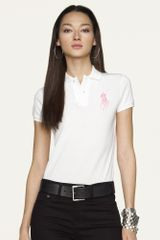 Ralph Lauren Pink Pony Shortsleeved Big Pony Polo - Lyst