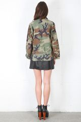 Runwaydreamz Vintage Camo Studded Field Jacket - Lyst