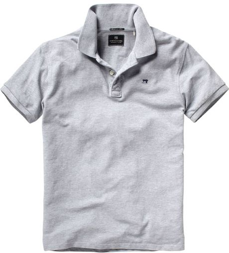 scotch soda signature polo in gray for men grey lyst. Black Bedroom Furniture Sets. Home Design Ideas