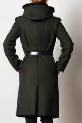 Sportmax Canard Wool Coat in Green (forest) - Lyst