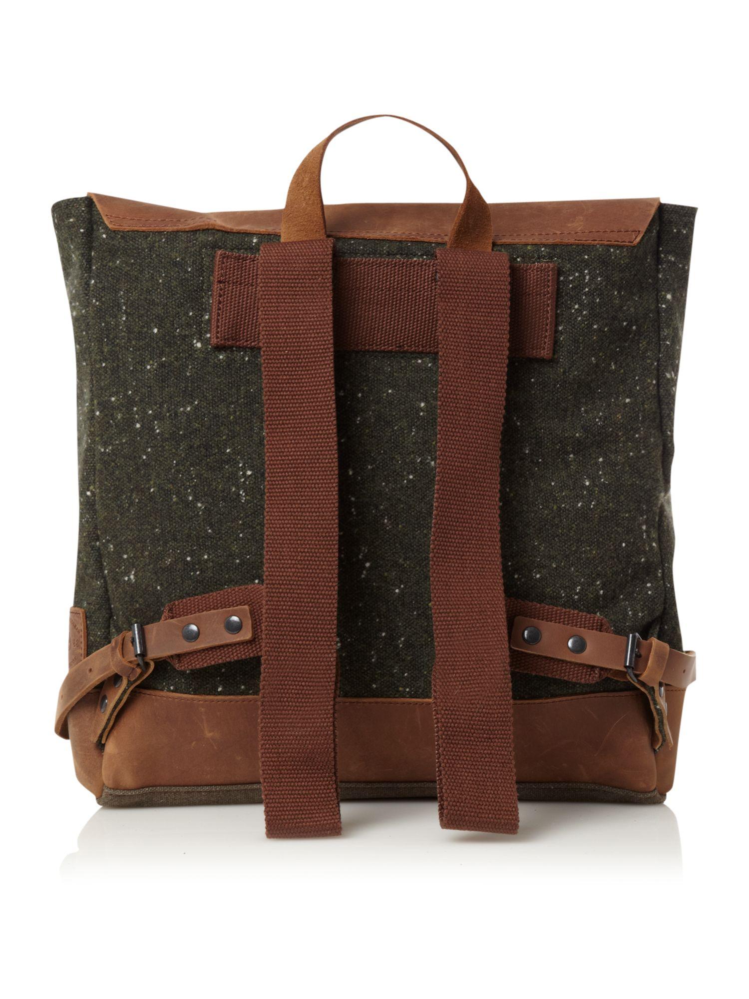 ted baker wool rucksack with leather trim in brown for men. Black Bedroom Furniture Sets. Home Design Ideas