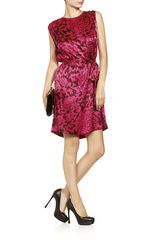 Temperley London Dianthus Shift Dress in Pink (floral) - Lyst