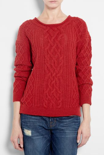 Vanessa Bruno Athé Cable Knit Jumper - Lyst