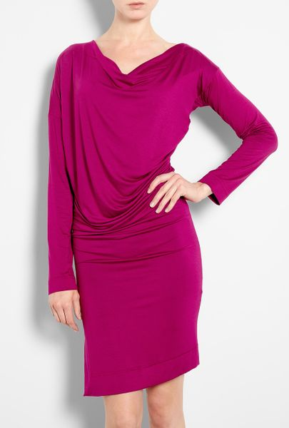 Vivienne Westwood Anglomania New Drape Dress in Purple - Lyst