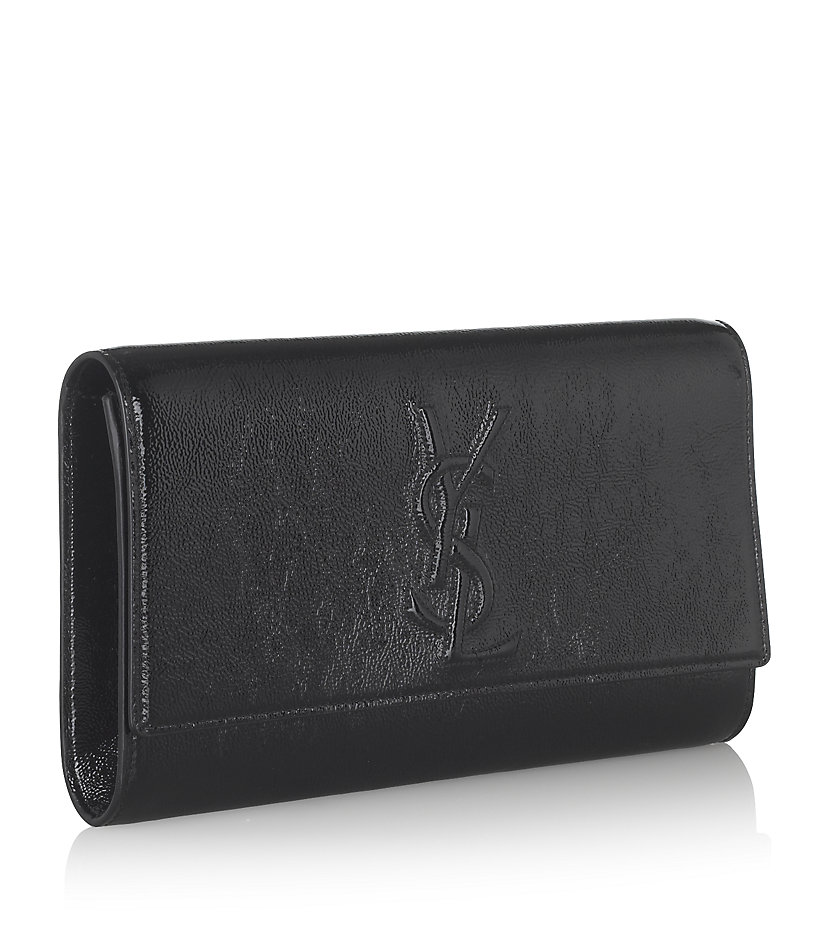 Saint laurent Belle De Jour Clutch Bag in Black | Lyst