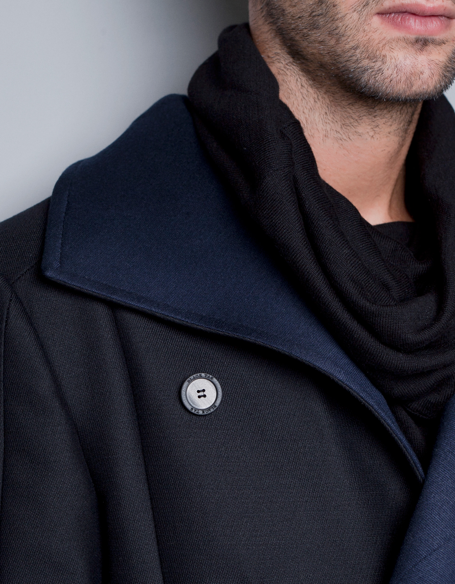 Zara Coat With Faux Leather Collar In Black For Men Lyst