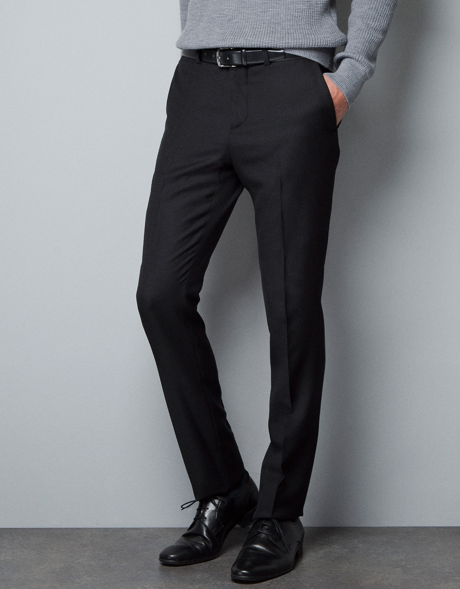 Zara Jacquard Trousers In Black For Men | Lyst