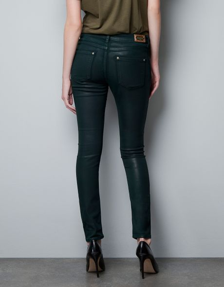 Wax Coated Jeans Womens