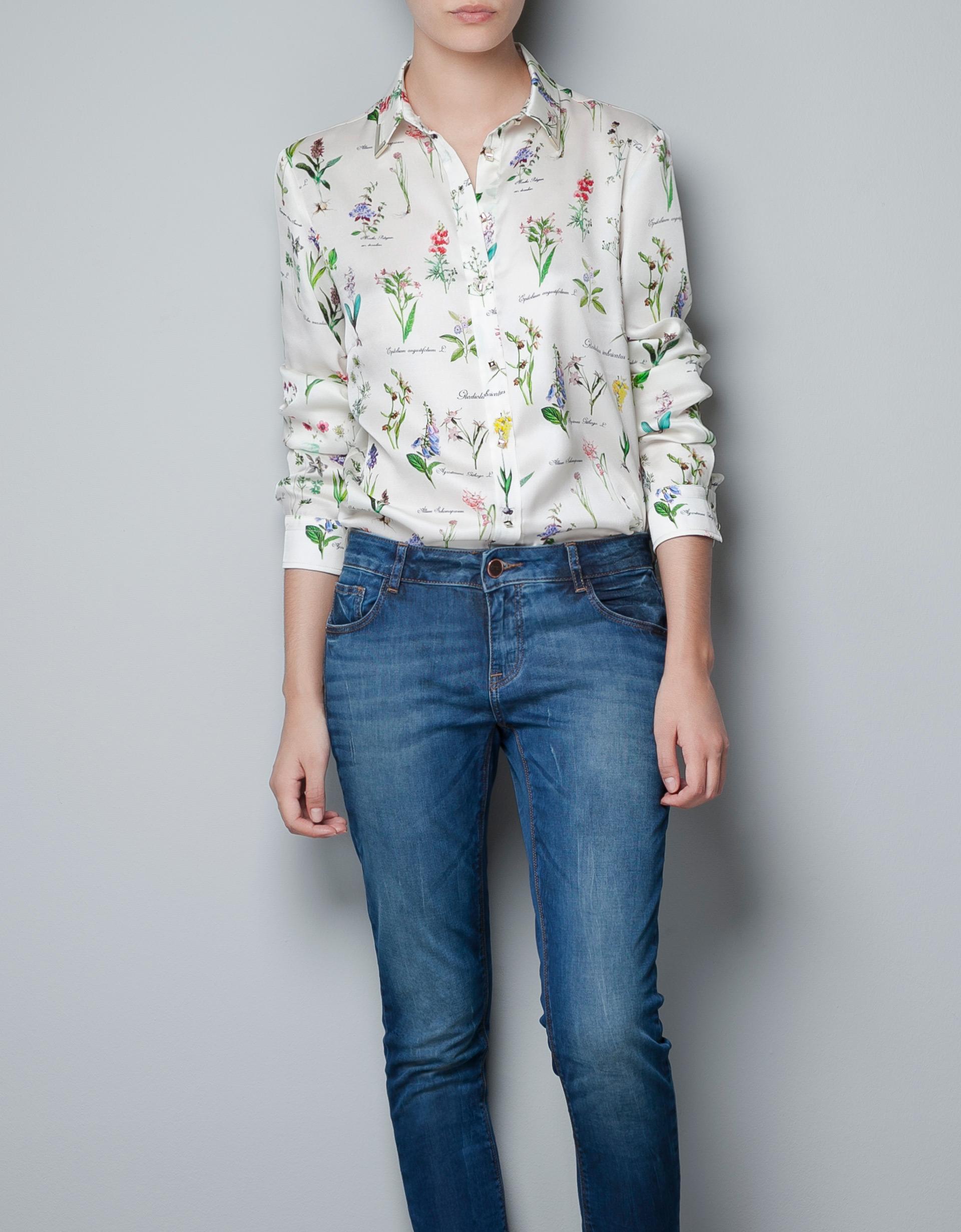 Zara Printed Chiffon Blouse 12