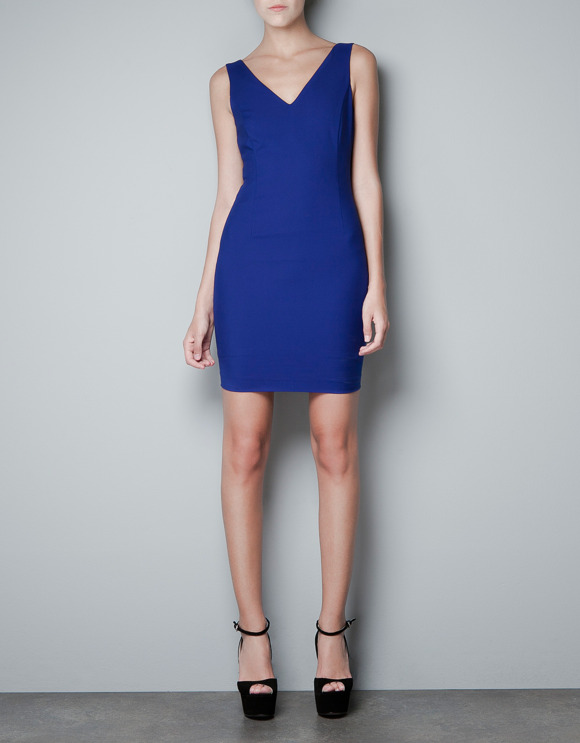 Blue dress zara black