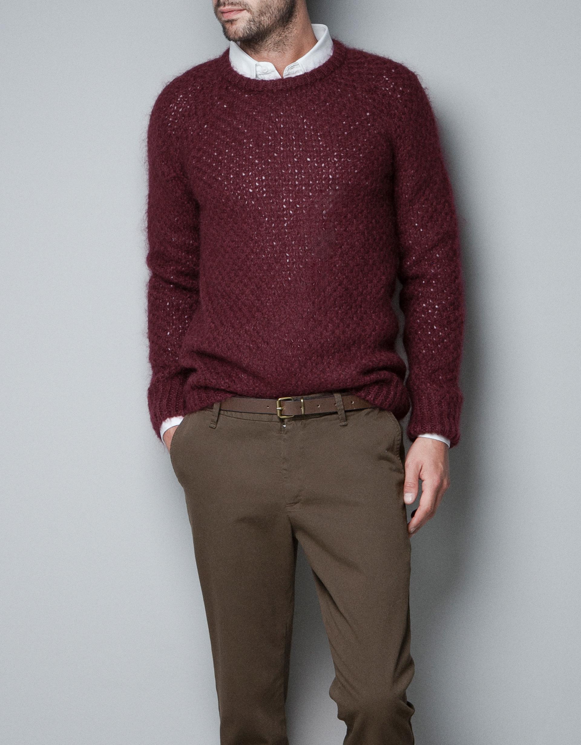 Zara sweater mens gray cardigan sweater - Hm herren jeans ...