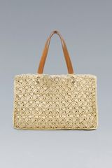 Zara Plaited Straw Bag - Lyst