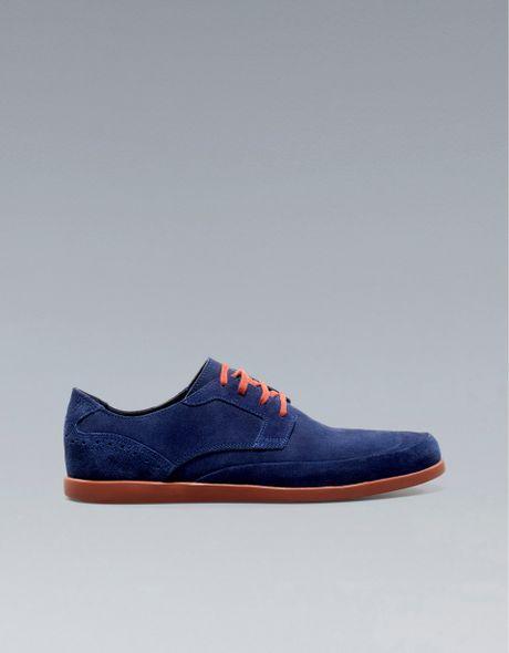 zara formal shoe in blue for navy blue lyst